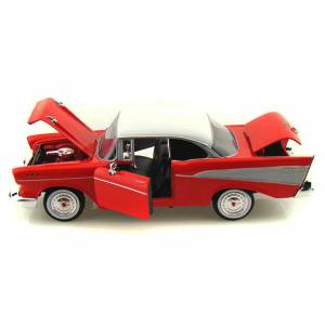 Motor Max Chevy Bel Air 1957 Model Metal Araba Kırmızı 1:24