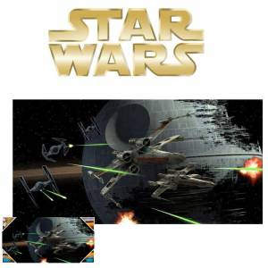 Star Wars: Tie Fighter Vs. X-Wing Glass Poster