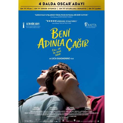 Call Me by Your Name (2017) LIBERTIE AFİŞ - POSTER RULO KUTUDA ( 70 cm x 100 cm )
