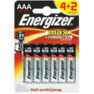 Energizer Alkaline Max Power 4+2 AAA İnce Pil