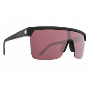 Spy+, güneş gözlüğü, Sunglasses, Flynn 5050 Matte Black - HD Plus Rose with Silver Spectra Mirror
