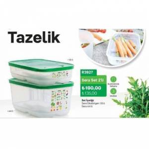 TupperWare SeRa Set 2'Li - ( 1.8 lt. + 4.4 lt.)