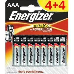 ENERGİZER MAX AAA 4+4 PİL (LR03)