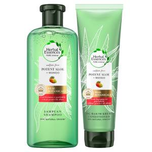 Herbal Essences Sülfatsız Aloe 380 ml Şampuan Mango Gücü + 275 ML Saç Kremi