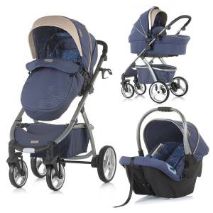 Chipolino Up & Down 2in1 Travel Sistem Bebek Arabası Marine Blue