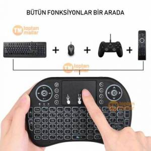 Mini Klavye Kablosuz Wireless Mouse Android Tv Box Usb Set Bilgisayar İpad Pc Fare