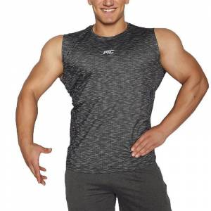 MuscleCloth Pro Kolsuz T-Shirt Siyah MEDIUM
