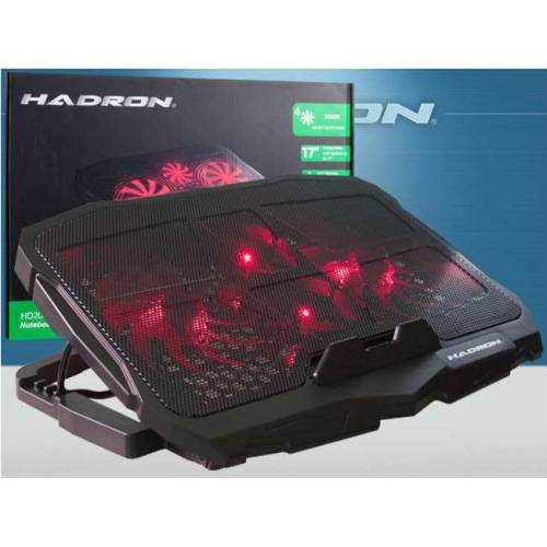 HADRON HD2008 IŞIKLI 4 FANLI NOTEBOOK-LAPTOP SOĞUTUCU FAN ALTI KADEMELİ FAN