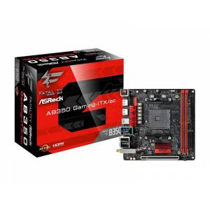 Asrock Fatal1ty AB350 Gaming-ITX/ac Ryzen AM4 Socket, DDR4 3466+ (OC), HDMI, DVI, Mini-ITX OUTLET