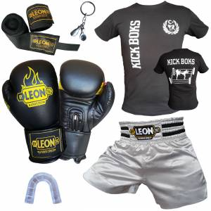 Leon Ground Boks, Kick-box, Muay Thai Seti Gümüş