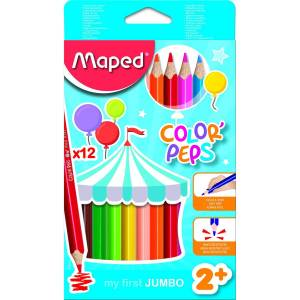 Maped Color Pep's Maxi Kuru Boya 12'li Kutu