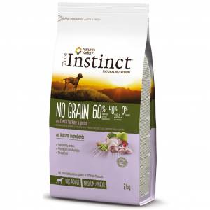 T INSTINCT DOG NO GRA.MED/MAX ADULT TURKEY 2kg