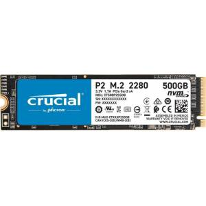 Crucial P2 500GB NVMe PCIe M2 SSD (2300-940 MB/s) CT500P2SSD8