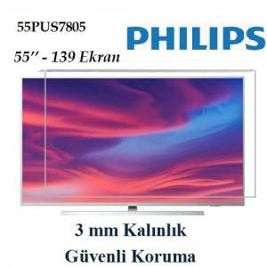 Trendglass Philips 55PUS7805 55'' inç 139 Ekran LED LCD TV Ekran Koruyucu Panel