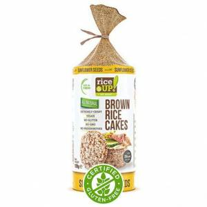 SUNFLOWER SEED RİCE UP BROWN RİCE CAKES 120 GR