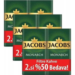 Jacobs Monarch Filtre Kahve 2 x 500 gr 3'lü Set (3 kg)