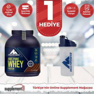 Multipower %100 Pure Whey Protein Tozu 2000 Gr ( SHAKER HEDİYELİ ) Multipower Protein Tozu Whey