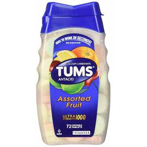 Tums Ultra Strenght 1000 Assorted Fruit 72 Tablets