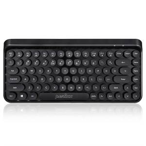 Perixx PERIBOARD-614 US 11549 Mini Wireless Keyboard - Retro