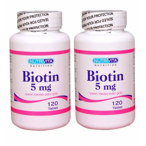 Nutrivita Nutrition Biotin 5 mg 120 Tablet 2 Adet