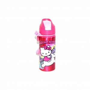 Hello Kitty Orijinal Lisanslı Pipetli Metal Matara 97866