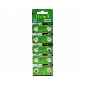 OXFORD AG1, LR 621 , 364 ,SR621 , 164 ALKALINE BUTTON BATTERY 1,55V SAAT PİLİ