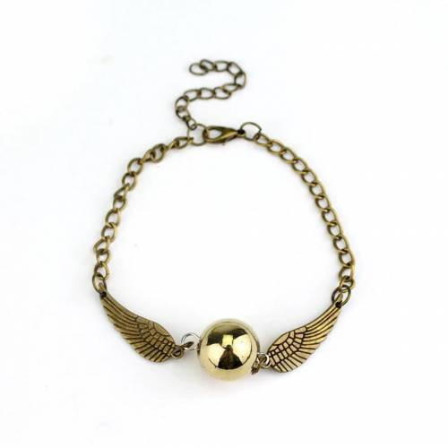 HARRY POTTER GOLDEN SNITCH MELEK KANAT METAL BİLEKLİK BRONZ