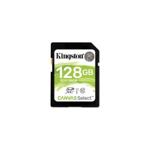 KINGSTON 128GB SDXC CANVAS SELECT 80R  CL SDS/128GB