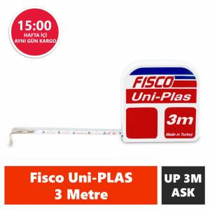 FISCO UNIPLAS  3 METRE ASKILI ÇELİK KISA  ŞERİT METRE  UP3M/ASK