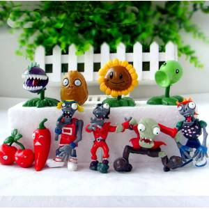 Plants vs Zombies Action Figure 10 Adet Plants and Zombies Figür
