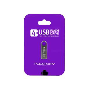 USB FLASH BELLEK METAL 4 GB POWERWAY