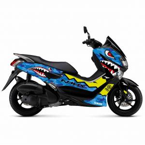 YAMAHA NMAX 155 Sticker Seti Shark Mavi