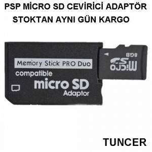 SONY PSP MEMORY STİCK PRO DUO MİCRO SD CEVİRİÇİ ADAPTÖRÜ PSP HAFIZA KART CEVİRİÇİ MEMORY STİCK