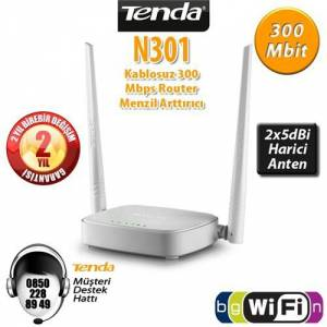 Tenda N301 300 Mbps 2.4 Ghz Acces Point & Router