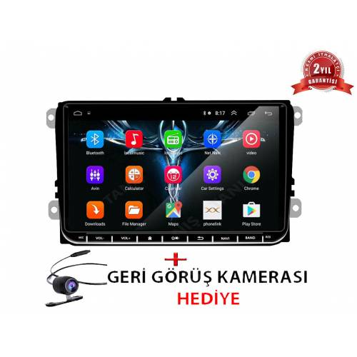 Volkswagen Amarok Multimedya 9'' Android Double Teyp Passat Jetta Polo Caddy 2GB RAM Navigasyon