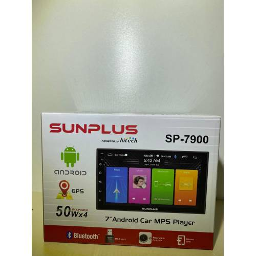 HİTECH SUNPLUS SP-7900 7'' CAR MP5 PLAYER ANDROID DOUBLE OTO TEYP