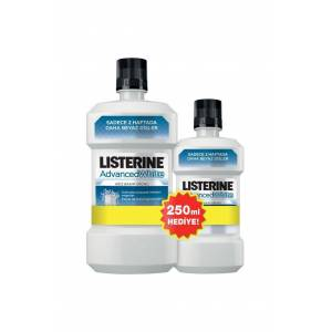 Listerine Advanced White 500 ml + 250 ml Hediyeli Set