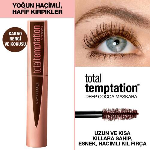 Maybelline New York Total Temptation Maskara 02 Deep Cocoa - Kahverengi