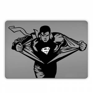 Süpermen Superman Clark Kent  Apple Macbook, Pro Sticker Etiket Dekoratif