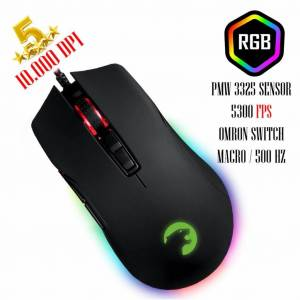 GAMEPOWER URSA RGB 10000 DPI GAMING MOUSE USB SİYAH