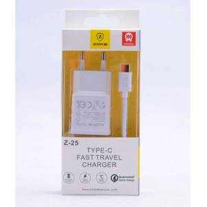 Evastore Type-C Fast Travel Charger Set Z-25