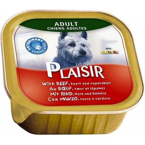 Plaisir Pate Rich In Beef And Vegetables 150 g Köpek konserve maması X 3 ADET