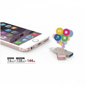 PQI iConnect 32GB mini USB 3.0 iPhone/iPad/iPod Altın USB Bellek