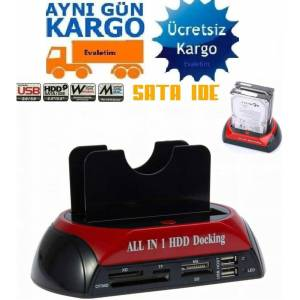 3.5 2.5 USB IDE SATA ESATA 4211p HDD DOCK STAND HARD DİSK MASAÜSTÜ XD TF MS CF HOST DOCKING ALL in 1