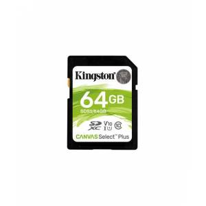 Kingston 64GB SDXC Canvas Select Plus 100R C10 UHS-I U1 V10