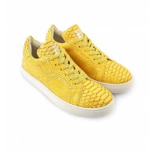 Rollbab Yellow Dragon Naturel Effected Sneaker