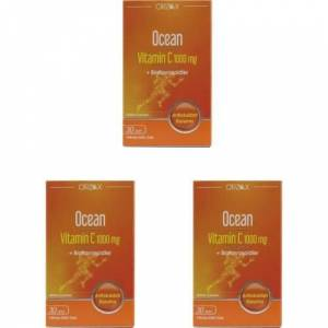 Ocean Vitamin C 1000 mg 30 Tablet 3 Adet S.K.T 08 2023