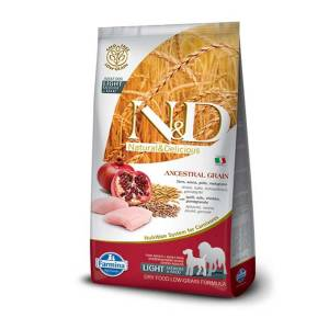 Nd Az Tahıllı Tavuklu Light Medium & Maxi Köpek Maması 12 Kg