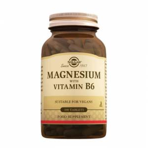 Solgar Magnesium With Vitamin B6 100 Tablet