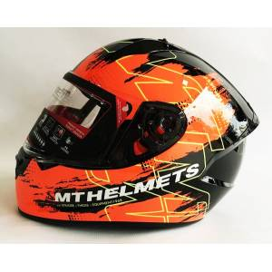 Mt Kask Mt Stinger Thesis F4 Gloss Black Orange - XL BEDEN